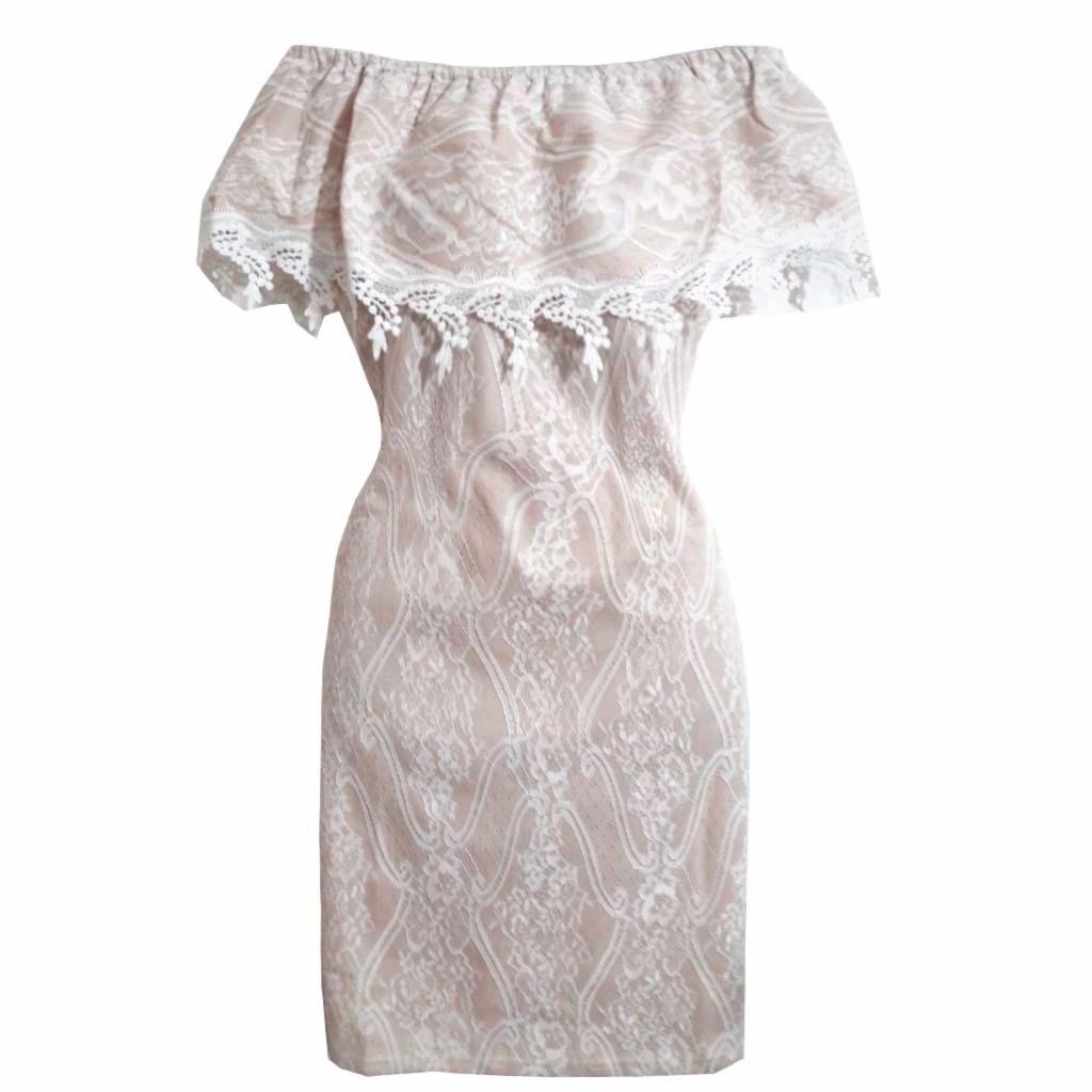 7c88659aa Vestido Social Detalhes Em Renda Vestidos Delicados Online - R$ 105 ...
