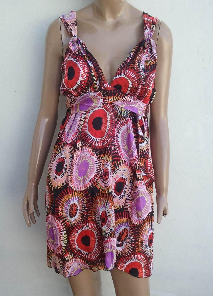 ae7411a95 Vestido Solera Verano Corto Estampado - $ 880,00 en Mercado Libre