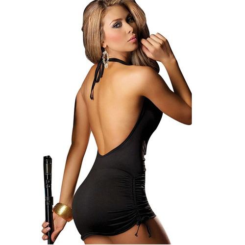 vestido spandex escote profundo.