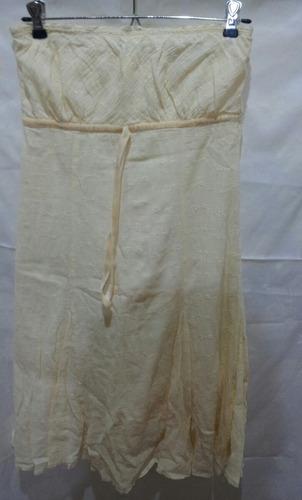 vestido straples inedita de brodery m