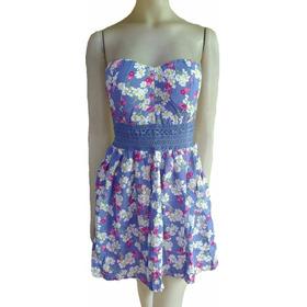 Vestido Strapless Corto Floreado Casual Primavera Verano