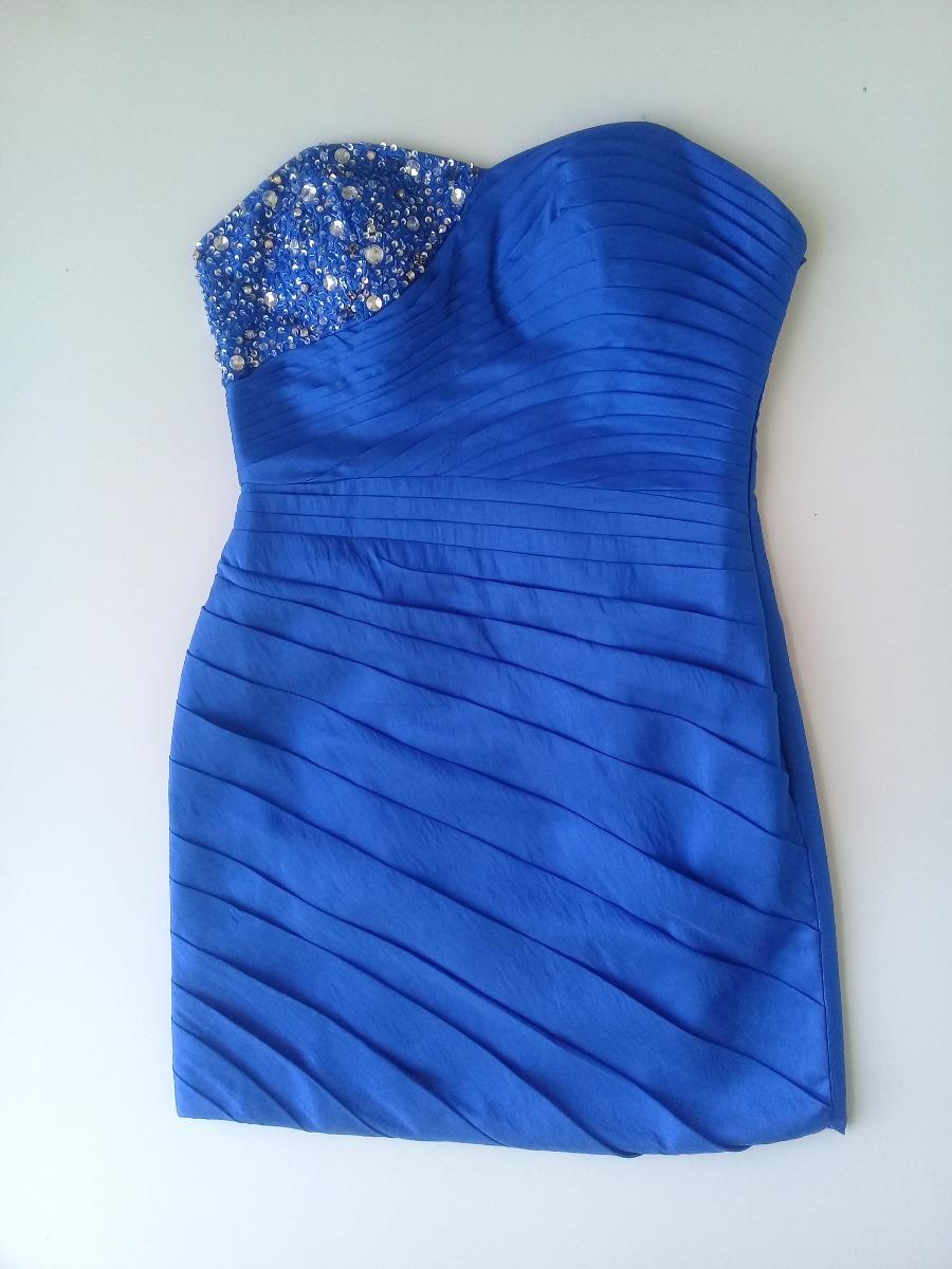 af1915887 vestido strapless de fiesta corto azul francia. Cargando zoom.
