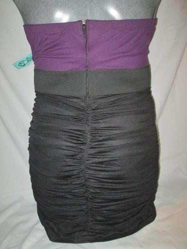 vestido strapless de fiesta en talla 1x /2x  amer. ( 38- 40)