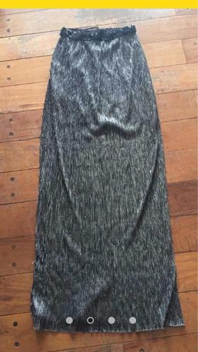 vestido strapless gris plata de marca