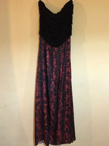 vestido strapless largo tucci