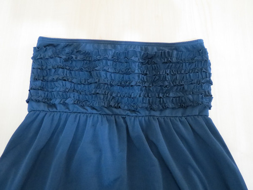vestido strapless peuque