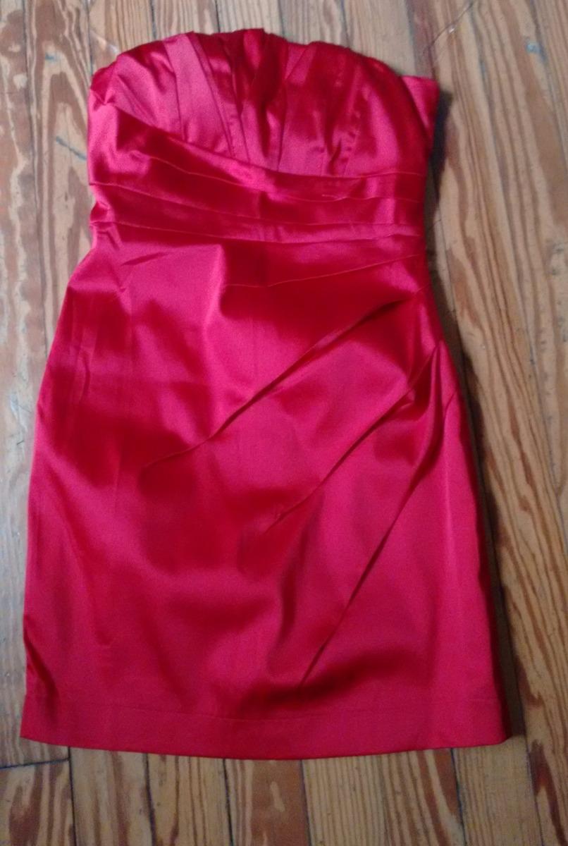 Vestidos cortos de raso rojo