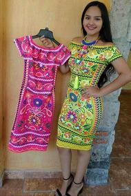 Vestido Sublimado Moderno Mexicano Envio Gratis Rosa
