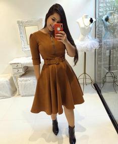 e28a2505d69a Vestido Suede - Vestidos Femeninos Bordô com o Melhores Preços no Mercado  Livre Brasil