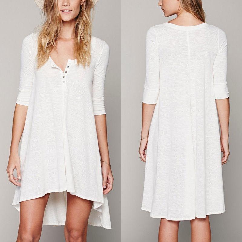 Estilos de vestidos blancos casuales