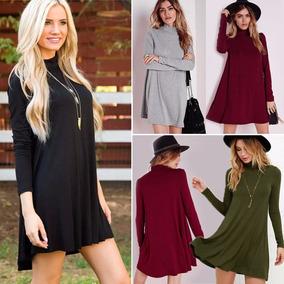 mejor selección mejor online calidad autentica Vestido Suelto Manga Larga Casual Fashion Mujer Cotton Loose
