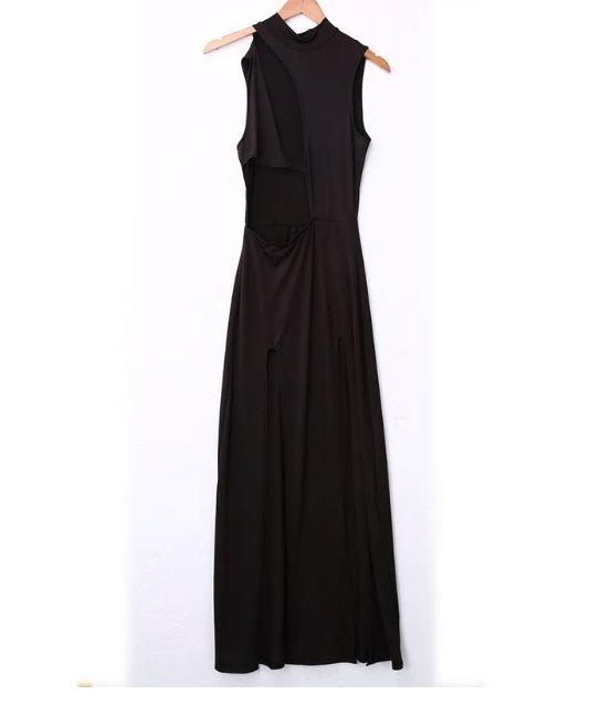 Vestido negro liso corto
