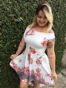 93a65866c0ac Vestido Curto Rodado Gola Alta - Vestidos Femeninos Curto com o Melhores  Preços no Mercado Livre Brasil