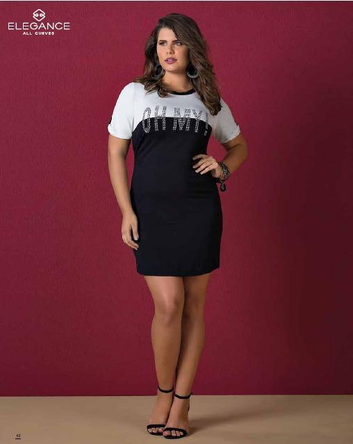 d256692bcc Vestido T-shirt Plus Size - R  189