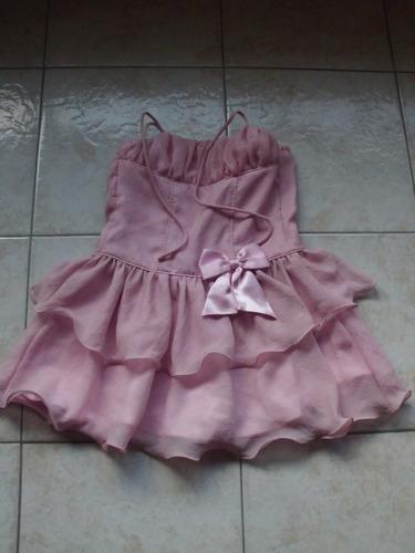 vestido talla 10 marca yanina talla 8 usado una vez