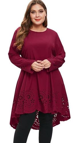 vestido talla grande con corte alto y corte láser