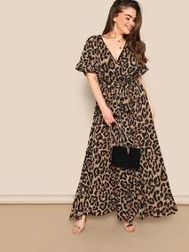 comprar mejor diversos estilos Vestidos De Leopardo Largos - Vestidos de Mujer Casual ...
