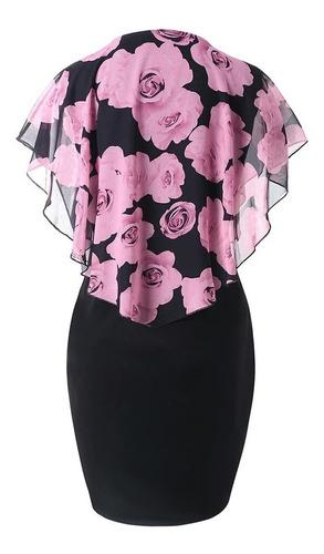 vestido talla plus vuelos rosa, azul o rojo + envío gratis