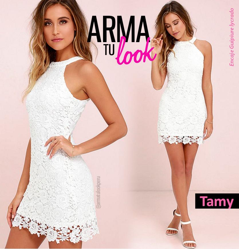 a99530ef7 vestido tamy encaje verano damas coctel fiesta arma tu look. Cargando zoom.