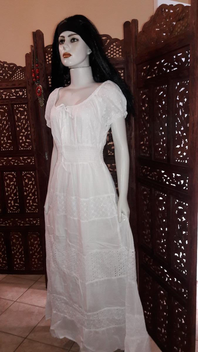 8bd180f6a vestido tecido algodão laise manga ciganinha retro branco. Carregando zoom.