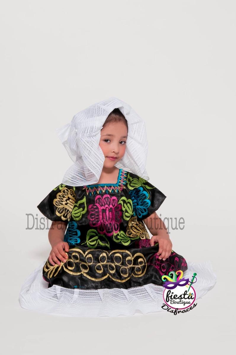 Vestido Tehuana Puebla Regional Mexicana Traje Disfraz 100