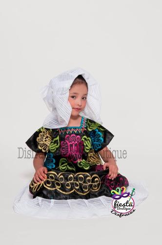 vestido tehuana puebla regional mexicana traje disfraz 40 80