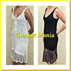 62680bf31fa7 Vestido Tejido A Crochet Blanco Ideal Para Playa
