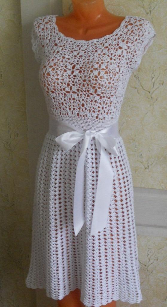 ed6bd4e90499 Vestido Tejido A Crochet Para Dama Azul - $ 1,000.00