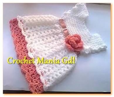 Vestido Tejido A Crochet Para Niña Bebe Princesa