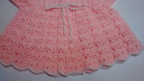 vestido tejido a mano para bebe + envío gratis