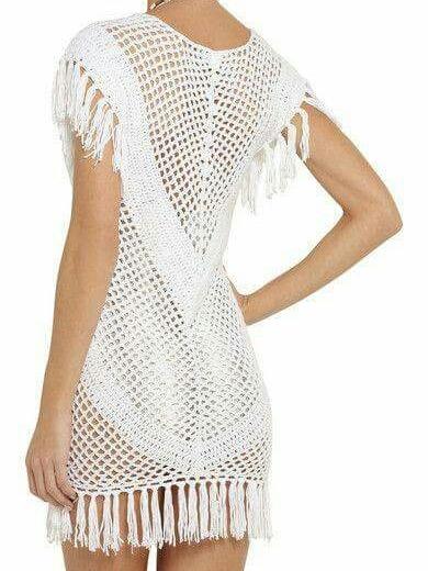 Vestido Tejido Crochet Primavera Verano 2020