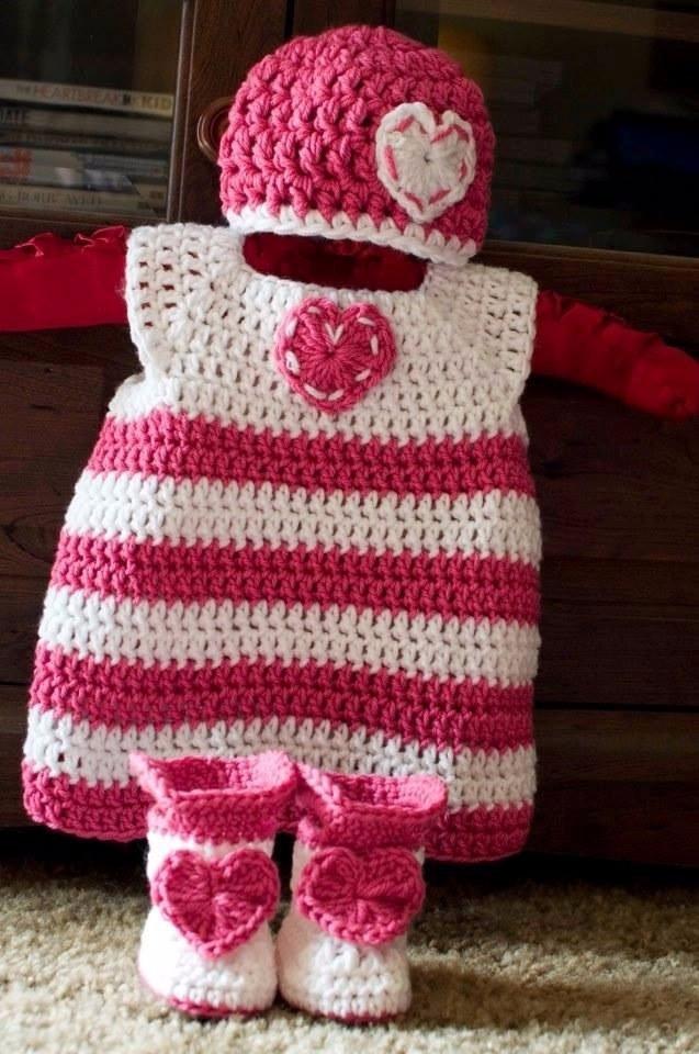 92aae9f59 Vestido Tejido Crochet Ropa Conjunto Capullo Bebe Niña Niño - Bs. 0,02 en  Mercado Libre