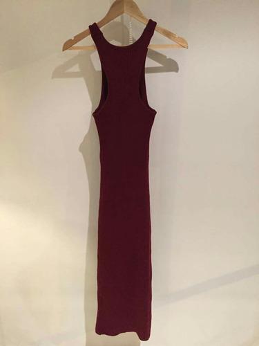 vestido tejido strech color vino studio f