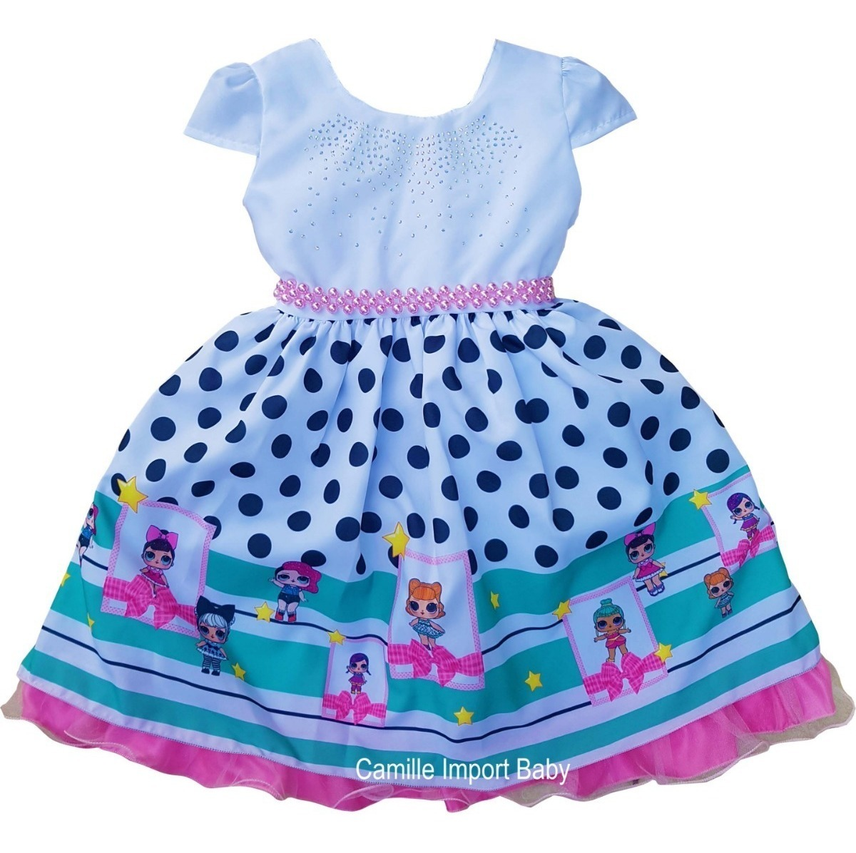Vestido Tema Luxo Boneca Lol Surprise 4 Ao 10 E Kit