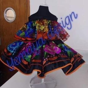 Vestido Temática Mexicano Tallas Desde 1 Año A 6