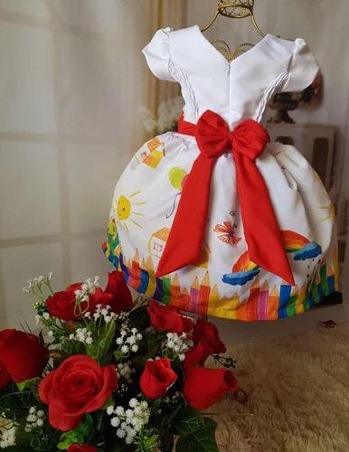 vestido temático aquarela