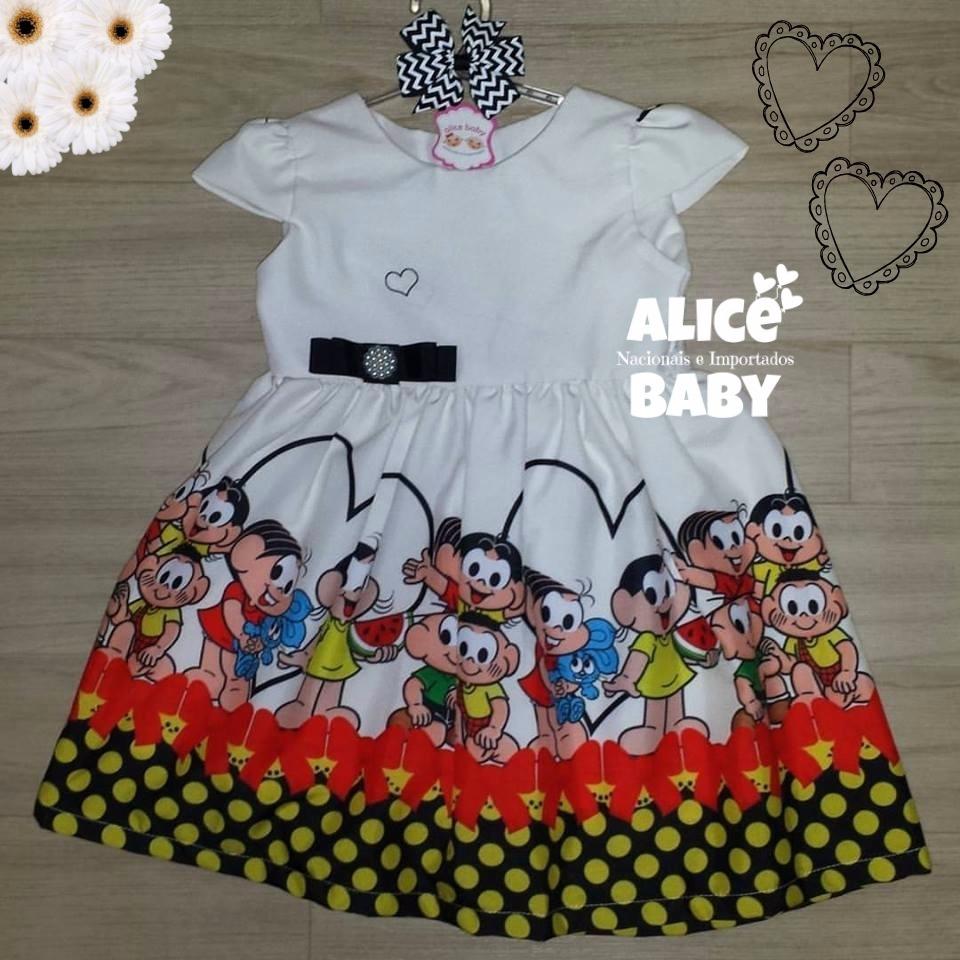 f86b43c167 vestido temático infantil festa turma da mônica mod.1. Carregando zoom.