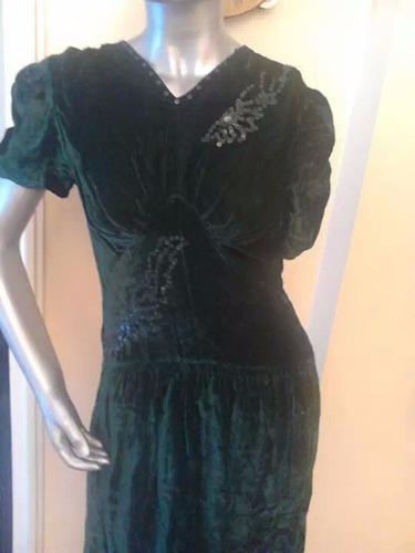 vestido terciopelo bordado talle s dis.antiguo danza teatro