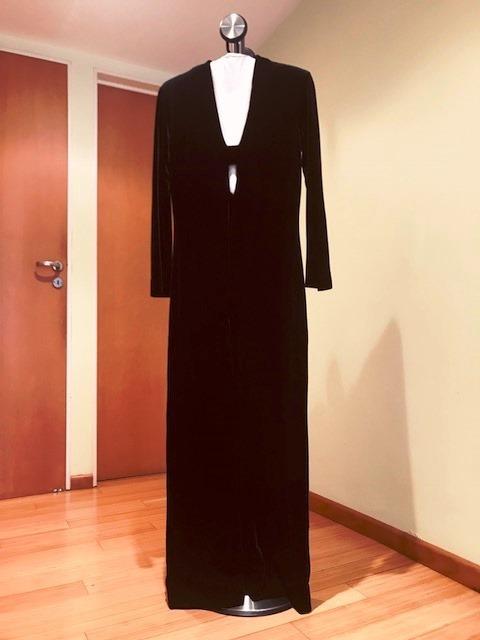 Vestido negro largo terciopelo