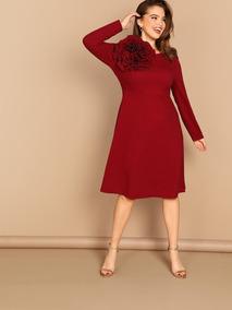 7081915e6932 Vestidos Largos Vino Tinto Casuales Mujer - Vestidos de Mujer Casual ...