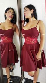 Vestidos Encaje Tintos Vestidos De Mujer Corto Bordó En