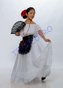 Vestido Tipico Veracruz Jarocha Doble Vuelo
