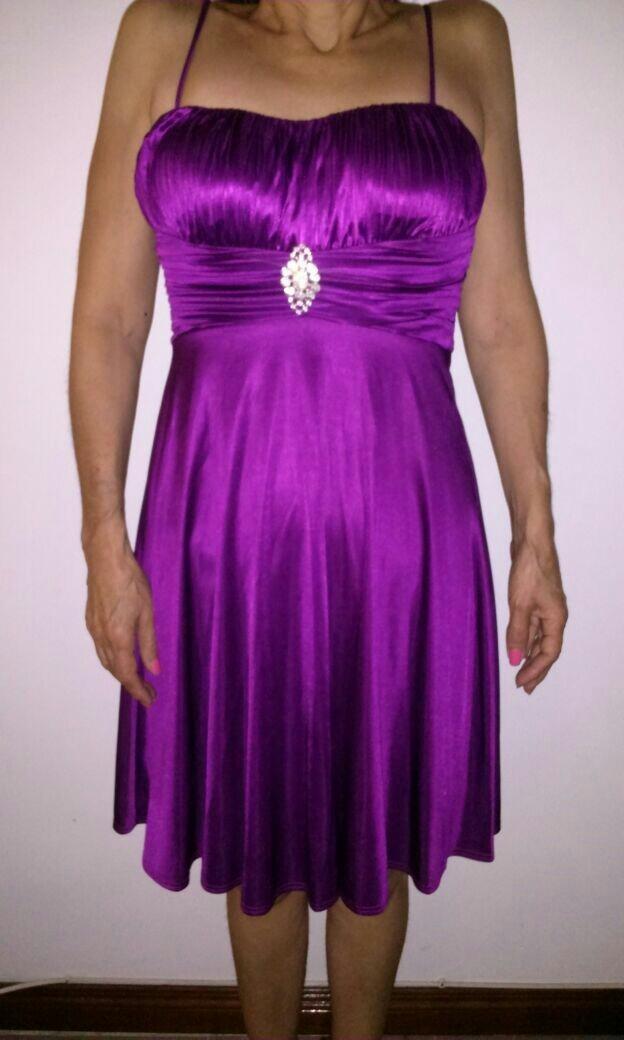 Único Vestido De Cóctel De Color Burdeos Friso - Vestido de Novia ...