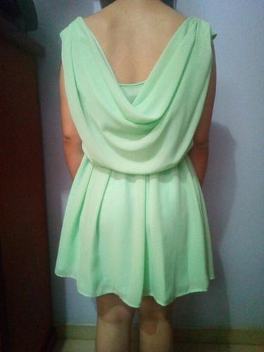 vestido tipo coctel color verde claro