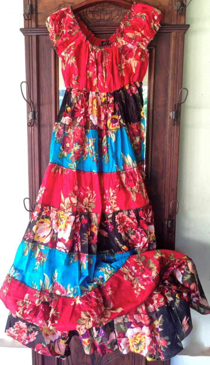 1c3c6ad4e0 Vestido Tipo Frida Longo