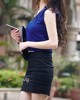 vestido tipo mini falda