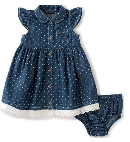 vestido tommy hilfiger niña bebé 3 meses 100% original/nuevo