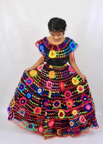 a25eabc69c Vestido Traje Artesanal Típico De Flores Chiapaneca De Niña