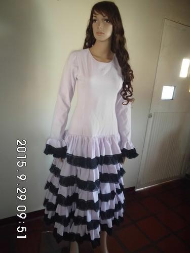 vestido traje de flamenco dama sevillana española disfraz