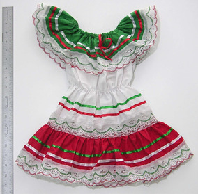 Vestido Traje Típico Mexicano Talla 2 Años Niña